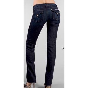 HUDSON   Carly Flap Dark Wash Straight Jeans 25